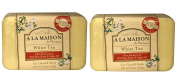 A La Maison de Provence White Teah Hand and Body Soap (Pack of 2) With Shea Butter, Coconut Oil and Argan Oil, 260ml Each