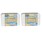 A La Maison de Provence Fresh Sea Salt Hand and Body Soap (Pack of 2) With Coconut Oil, Argan Oil and Shea butter, 260ml Each