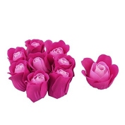 DealMux Bathroom Relax Body Rejuvenation Fragrant Rose Petal Soap 9pcs Fuchsia