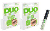 2 X Duo Brush on Striplash Adhesive white/clear for Strip Lashes Easy To Apply : 5 g