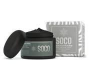 SOCO Botanicals Black Lava Scrub - Activated Charcoal Exfoliating Scrub with Essential Oils- All Natural