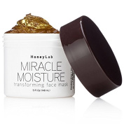 Honeylab Miracle Moisture Honey Facial Mask for wrinkles and fine lines with Manuka Honey, Propolis, Witch Hazel. Firms the look of sagging skin. Large 150ml jar.