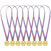 Pangda 48 Pack Plastic Winner Medals Golden Awards for Kids Sports Party, Competition