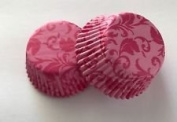 50 count Pink Damask Cupcake Liners Liner for Standard Size Cupcakes