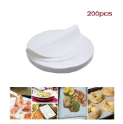 (set of 200) Non-Stick Round Parchment Paper 25cm Diameter,Baking Paper Liners for Round Cake Pans Circle