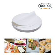 (set of 100) Non-Stick Round Parchment Paper 25cm Diameter,Baking Paper Liners for Round Cake Pans Circle