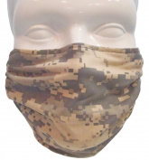 Breathe Healthy Face Mask for Dust, Drywall & Sanding, Woodworking, Lawn & Garden, Construction with Adjustable Ear Loops, Washable Antimicrobial Digital Camo Design
