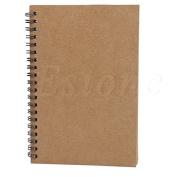 Rose & J Retro Spiral Coil Sketch paper Notebook
