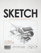 Premium Sketch Paper for Pencil, Ink, Marker, Charcoal and Watercolour Paints. Great for Art, Design and Education. Loose Pack. (50 Sheets