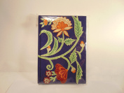 Blue Floral Embroidered Artists Writing Journal 5x7