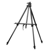 KKmoon Folding Adjustable Metal Art Artist Easel Tripod Sketch Drawing Stand for Painting Display Exhibition with Carrying Bag
