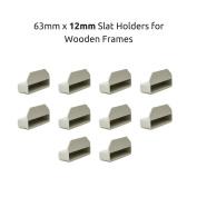 63mm x 12mm Bed Slat Holders Caps for Wooden Frames