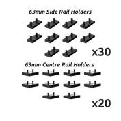 63mm Bed Slat Holders Kits Bundles for Metal Beds 30 Sides And 20 Centres