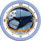 North Carolina 2017 NCAA Division I Men's Basketball Champions - Slam Dunk Wall Clock