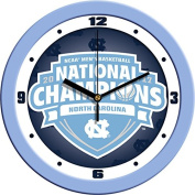 North Carolina 2017 NCAA Division I Men's Basketball Champions - Dimension Wall Clock
