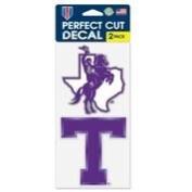 Tarleton State Texans Die Cut Decal - Two 10cm x 10cm Decals - NCAA