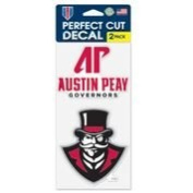 Austin Peay Governors Die Cut Decal - Two 10cm x 10cm Decals - NCAA