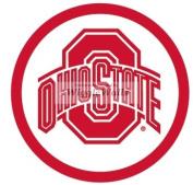 15cm Round O Logo Symbol Red White OSU Ohio State University Buckeyes Removable Wall Decal Sticker Art NCAA Home Decor 16cm