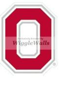 7.6cm O Logo Symbol Red White OSU Ohio State University Buckeyes Removable Wall Decal Sticker Art NCAA Home Decor 5.1cm by 7cm