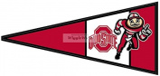 23cm Red Pennant Flag OSU Ohio State University Buckeyes Removable Wall Decal Sticker Art NCAA Home Decor 23cm wide by 10cm tall