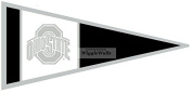 20cm Black Pennant Flag OSU Ohio State University Buckeyes Removable Wall Decal Sticker Art NCAA Home Decor 20cm wide by 10cm tall