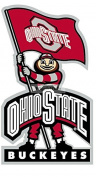 23cm Brutus OSU Ohio State University Buckeyes Removable Wall Decal Sticker Art NCAA Home Decor 13cm wide by 23cm tall