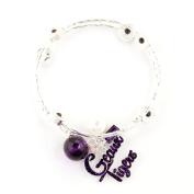 Seasons Jewellery LSU Slogan Bracelet