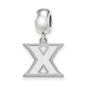 NCAA Sterling Silver Xavier University Small Dangle Bead Charm