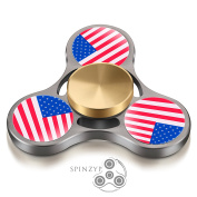 Fidget Spinner - HIGH SPEED Metal Ultra Durable Tri Hand Spinner EDC Fidget Toy Fingertip Gyro for Increased Focus, Stress Relief, ADHD, Autism, and Anxiety by SPINZYP