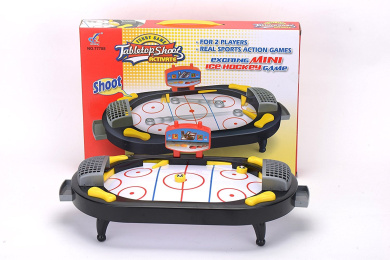 Mini Ice Hockey 2-Player Game for Desktop or Tabletop, Sports Toy for Home / Office