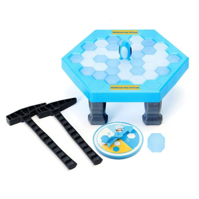 OKGOOD Puzzle Table Games Balance Ice Cubes Save Penguin Icebreaker Beating Save Penguin Knock Ice Block Wall Toys Interactive Desktop Party paternity Games