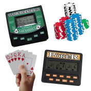 Travelling Portable Classic Blackjack 21 Cards & 5 in 1 Poker Electronic Handheld Game