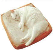 URToys 40x40CM Cute Soft White Bread Pet Cat Sleeping Bed Pad Cushion Kids Birthday Gift Home Bakery Shop Decoration Creative Toasted Bread Pillow Plush Toy