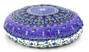 """80cm Inch Elephant Mandala Round Cotton Floor Pillow Cover Cotton Handmade Hippie Large Seating Bohemian Ottoman Pouffe Covers By """"Handicraft-Palace"""""""