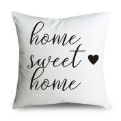 FabricMCC Throw Pillow Cover 46cm Quote Words Square Decorative Cushion Cover Throw Pillowcase for Couch