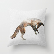Jumping Fox Accent Pillows Decorative Living Room Throw Pillow Covers 18 x 18