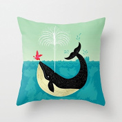The Bird and Whale Throw Pillow Covers 18 x 18 Decorative Pillows Throw Pillows for Couch Back to School Gifts