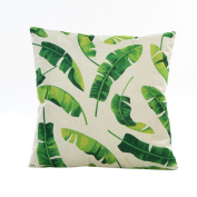 JUNKE Beautiful Flowers Grass Pattern Sofa Bed Home Decor Pillow Case Cushion Cover