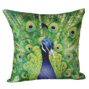 JUNKE Peacock Fashion Sofa Bed Home Decoration Pillow Case Cushion Cover