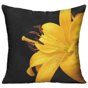 Lily Petals Bud Yellow Most Comfortable Decorative Pillow Covers 46cm X 46cm