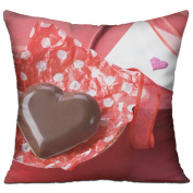 Heart Chocolate Box Red Gift Ribbon Letter Best Throw Pillows For Couch 46cm X 46cm