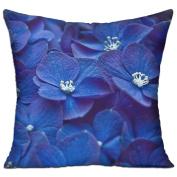 Flower Blue Petals Unique Throw Decorative Pillow Covers 46cm X 46cm