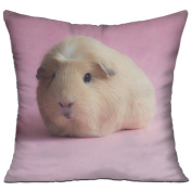 Guinea Pig Pink Fun Throw Throw Pillows For Couch 46cm X 46cm