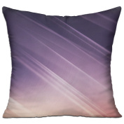 Light Blurred Lines Lilac Comfort Sofa Pillows 46cm X 46cm