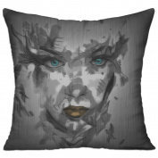 Face Paint Background Comfort Throw Pillows For Couch 46cm X 46cm