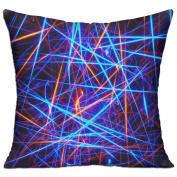 Glow Neon Light Strip Fun Throw Decorative Pillow Covers 46cm X 46cm
