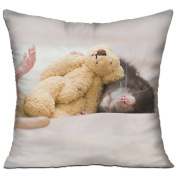 Rat Toy Dream Rodent Comfort Throw Pillows For Couch 46cm X 46cm