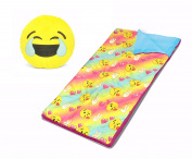 Emoji Pals Sleeping Bag Set, Rainbow, 140cm x 80cm