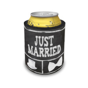 Slap Can Coolers Wedding Chalkboard with Just Married Insulator Sleeve Covers Neonblond