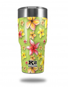 Skin Decal Wrap for K2 Element Tumbler 890ml - Beach Flowers Sage Green (TUMBLER NOT INCLUDED) by WraptorSkinz